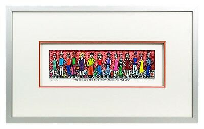 "Original James Rizzi 3D Bild "" True love for two"" NEU  Zertifikat drucksigniert"