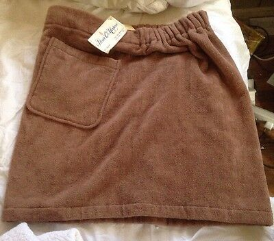 Hahne's Men Store Turkey Egyptian  Towel Shower Wrap Cotton NWT STATE O' MAINE !
