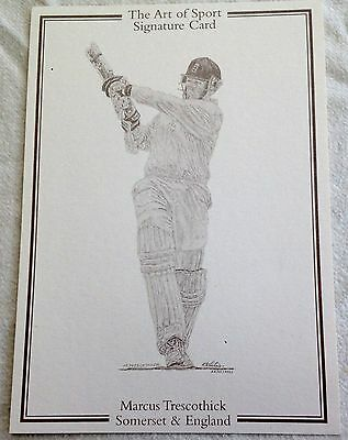 Cricketer Marcus Trescothick - Art Of Sport Card.