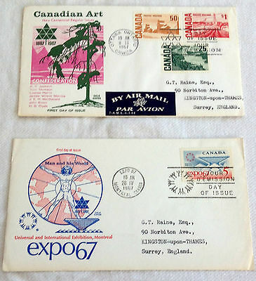 1960s CANADIAN FIRST DAY COVERS