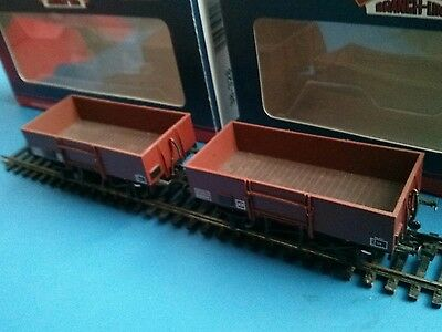 bachmann 38-328 x 2 13 high sided open wagons BR bauxite (late) boxed