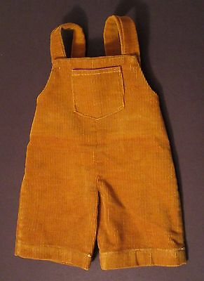 Vintage HANDMADE Cabbage Patch Doll Clothes - Butterscotch Corduroy Overalls