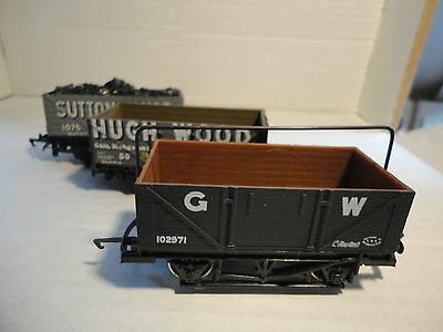 3 x 00 gauge Private Owner wagons GUC