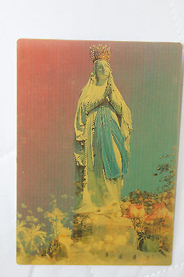 Lourdes France - The Crown Virgin - Religious 3D Lenticular Postcard