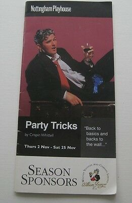 Martin Clunes - Director Playgramme Party Tricks  c1995 programme
