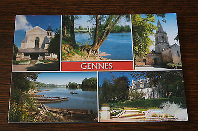 Gennes (Maine-et-Loire) France Multiview Postcard
