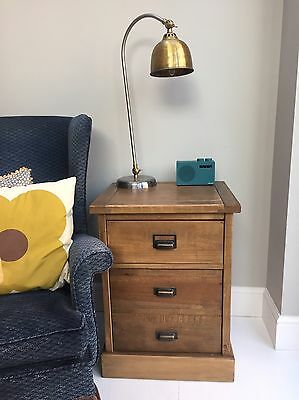 Oak Industrial Retro Side Table / Chest - Next Home