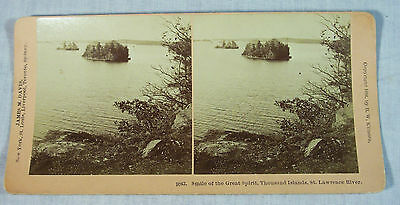 Antique Steroview Picture Thousand Islands, St. Lawrence River Ontario Canada
