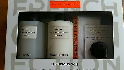 French Connection FCUK Luxurious Skin Gift Set  Heating face Mask & body new