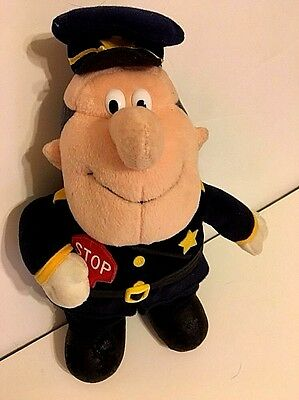 """Vintage Frosty the Snowman Stuffins Plush Traffic Cop Policeman Officer 12"""" Toy"""