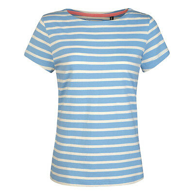 Seasalt Sailor Tee Shirt - Blue River and Ecru stripes, Organic Cotton