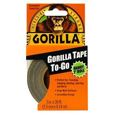 "Gorilla Glue Tape Handy Roll 1"" wide x 9M Tape to Go Strong Duct tape"