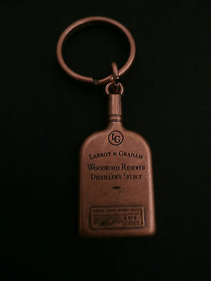 Woodford Reserve Straight Kentucky Bourbon Whiskey Keychain Solid Copper New