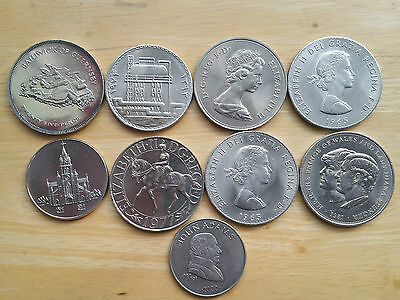 Mixed Lot Of Dollar Sized Foreign Coins-No Silver