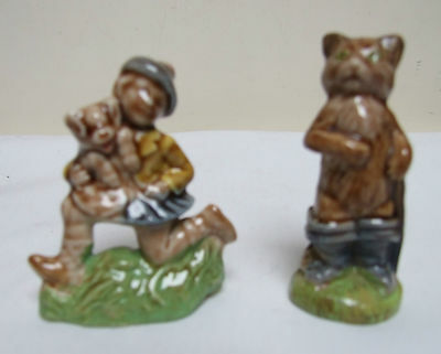 WADE PORCELAIN LARGE NURSERY FAVOURITES TOM PIPER & PUSS IN BOOTS 1970's 80's