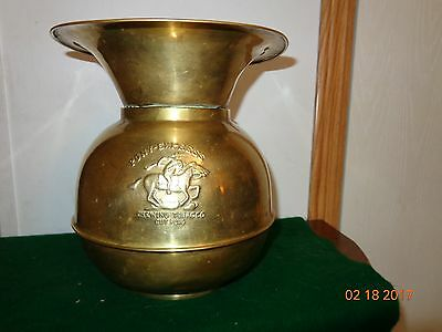 Pony Express ChewingTabacco Spittoon,Brass/Copper,Western Style Saloon Bar Decor