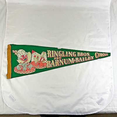 """Distressed Vintage Ringling Bros. And Barnum & Bailey Circus Pennant 24"""" x 8"""""""