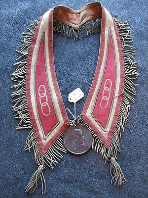 James Madison Peace Medal, Dated 1809 On Ornate Presentation Collar, Chi-00825