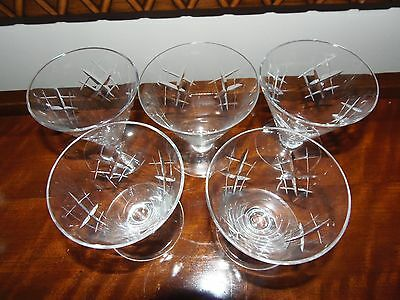 Genuine 1950's Waterford crystal cut coctail glass 4 set