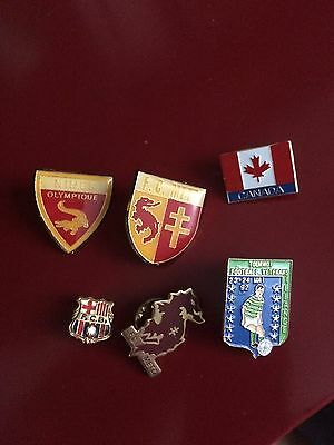 Lot Pin's Football Metz Barcelone Nice Olympique Illange