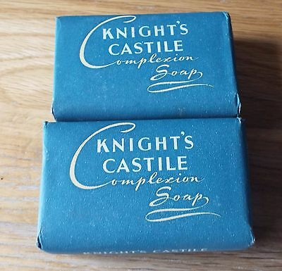 VINTAGE  2  BARS of KNIGHT'S CASTILE COMPLEXION SOAP 1930'S