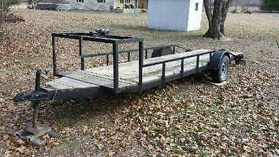 "Vintage dragster trailer  19'4"" x 4'5"" deck with remote control winch, 2"" ball"