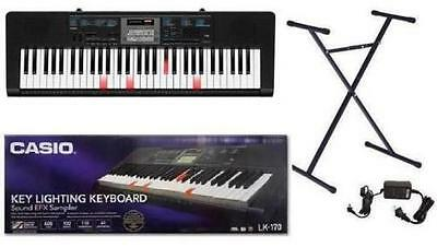 Casio Key Lighting Keyboard 61 Piano Style Keys LK-170 With Casio Stand. *C*