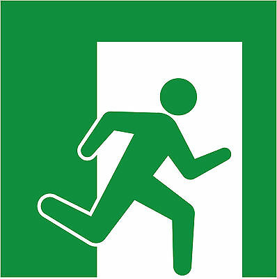 Pictogramme ISO 7010 SECOURS-sortie-vers-droite