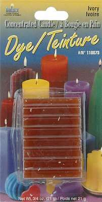 Concentrated Candle Dye 3/4 Ounce Blocks-Ivory 052124102801