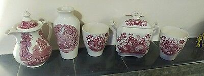 vintage Masons Ironstone collection in Pink  free postage