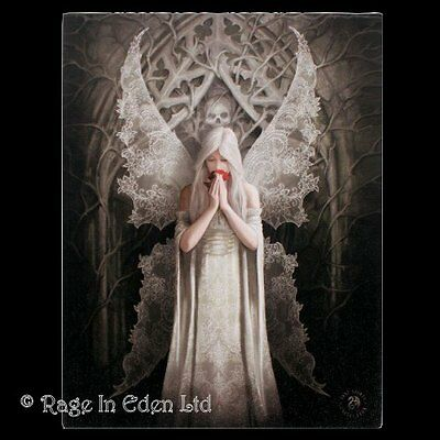 ONLY LOVE REMAINS Gothic Fantasy Angel Art 3D Postcard By Anne Stokes (15x10cm)