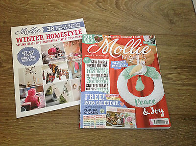 Mollie Makes Craft Magazine Christmas Issue with Winter booklet