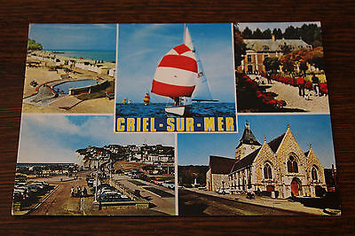 Criel-Sur-Mer Normandie France Multiview Postcard