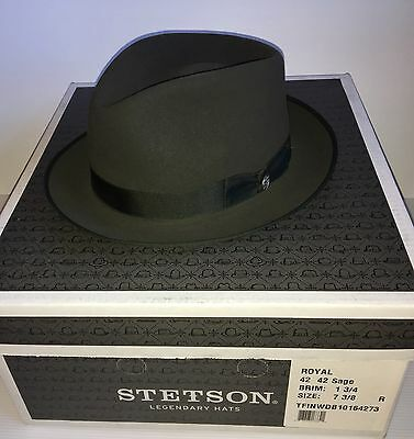 STETSON INWOOD ROYAL SPECIAL 150th Anniversary Edition SIZE 7 3/8 Sage NEW