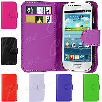 Samsung Galaxy Phone Case Cover PU Leather Wallet Book Flip For S3 Mini i8190