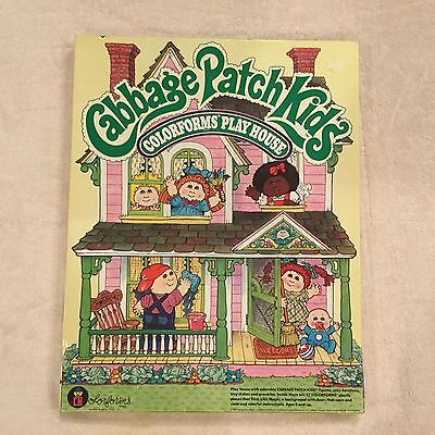 1983 Cabbage Patch Kids Colorforms Play House #4117