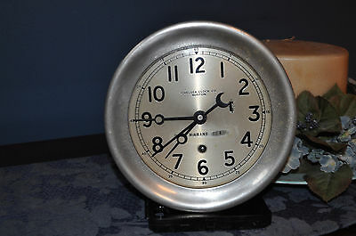 Chelsey Clock Co. Boston with U.S. Marine Corp. logo