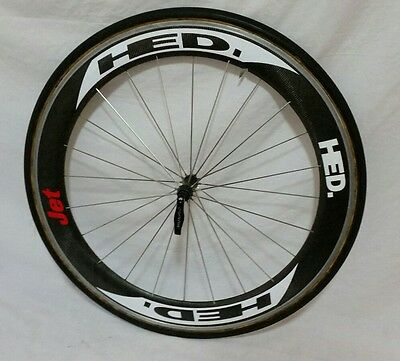 HED JET 60mm Carbon 700c Front Wheel Continental Sprinter 22 Tubular