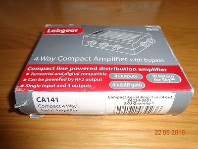 Labgear LDL104R 4G 4 Way Compact Aerial Amplifier with F Connector