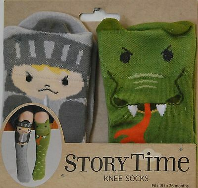 Pirate & Parrot Knee Socks, Children's, Story Time,18-36 months, Free Shipping