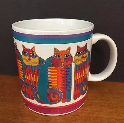 Laurel Burch 1988 Rainbow Cat Cousins Coffee Tea Mug Cup