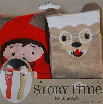 Little Red Riding Hood Socks, Children's, Story Time,18-36 months, Free Shipping