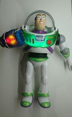 "Disney Pixar Toy Story 12"" Buzz Lightyear Ultimate Action Power Punch Talking"