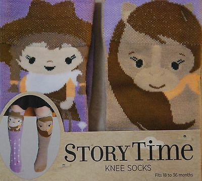 Cowgirl & Horse Socks, Children's, Story Time,18-36 months, Free Shipping