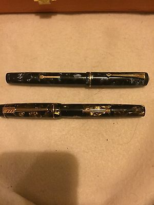 14 Carat Gold Played Fountain Pens Vintage