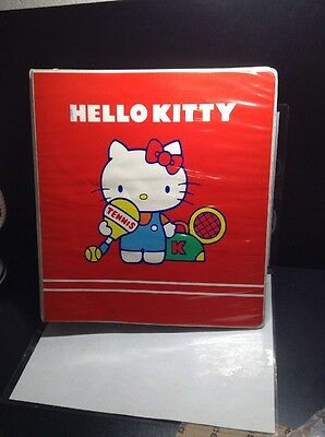 RARE Vintage 1981 SANRIO HELLO KITTY Large Binder HARD TO FIND MUST SEE!!!!!!!!