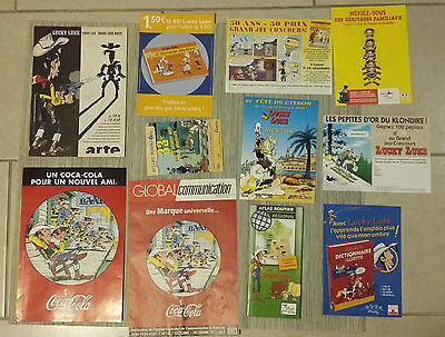 ! Lot! Lucky Luke -11 Documents Publicitaires