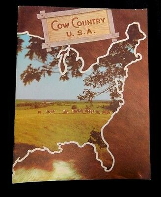 COW COUNTRY USA Hereford Cattle Historical Magazine 1950s Breed History Brochure