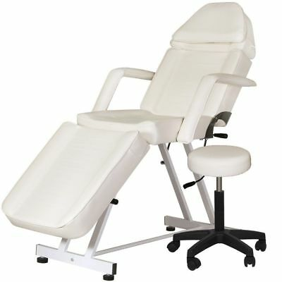 New Adjustable Portable Medical Dental Chair W/stool Combination White