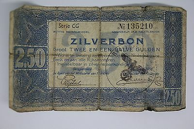 Netherlands Germany occupation banknote WWII/WW2